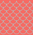 marine fish scales seamless pattern vector image vector image