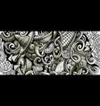 mexican food hand drawn doodle banner cartoon vector image vector image