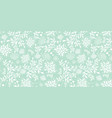 mint green underwater seaweed pattern vector image