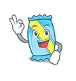 okay candy character cartoon style vector image