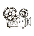 old film projector engraving vector image vector image