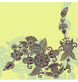 original hand draw ornate stylish floral vector image vector image
