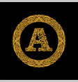 premium elegant capital letter a in a round frame vector image vector image