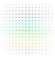 pulse shape halftone spectrum pattern vector image vector image