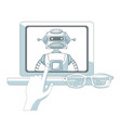 robot artificial intelligence vector image vector image
