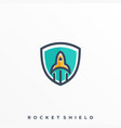 rocket icon design template vector image