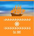 sailboat logo for yacht club or marina vector image vector image