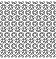 seamless pattern line star decoration abstract vector image vector image