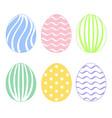 set eggs vector image vector image
