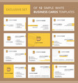 set of 12 beer creative busienss card template vector image vector image