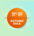 simple minimal autumn sale promotion background vector image vector image