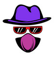 spy icon cartoon vector image