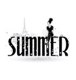 summer fashion girls in sketch-style in paris vector image vector image