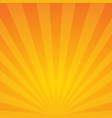 sun rays orange background spiral vector image vector image