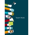 Team Work Flat Concept vector image