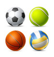 tennis soccer volley ball set for betting vector image