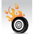 tire burning vector image vector image