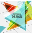 triangle abstract design vector image vector image