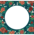 varicolored floral round ornamental frame vector image