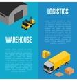 Warehouse logistics isometric concept vector image vector image
