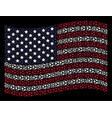 waving united states flag stylization of football vector image