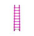 wooden ladder in pink design leading up vector image vector image