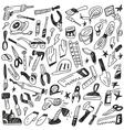 working tools - doodles vector image vector image