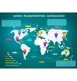 world transportation infographic vector image vector image