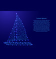 yacht with sails from futuristic polygonal blue vector image