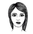picture of a beautiful girl lady vector image