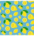 Seamless lemon pattern in bright happy colors vector image