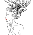 Girl with swirl hair vector image