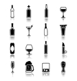 Alcohol icons black vector image