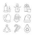 line christmas icon vector image