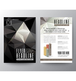 Abstract Black Triangle Geometric Brochure Flyer vector image