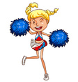 A simple sketch of a cheerdancer vector image vector image
