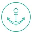 Anchor line icon vector image vector image
