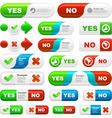 approved and rejected buttons vector image vector image