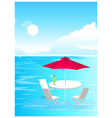 Beach Umbrella and Chairs vector image vector image