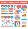 big set business infographic elements vector image