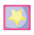 blocks cubes toys icon vector image vector image