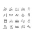 business consultant line icons signs set vector image vector image