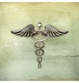 Caduceus old-style vector image vector image