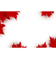 canada day background design of red maple leaves vector image vector image