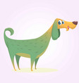 cartoon afghan hound vector image