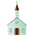 Cartoon church vector image