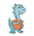cartoon dragon or dinosaur character vector image vector image
