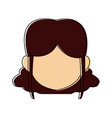 cartoon woman face character people female vector image vector image