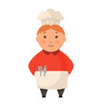child in a cook cap stands flat logo design vector image