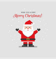 christmas card with flat santa vector image